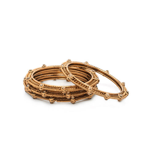 Rubans Set of 4 Gold-Toned Bangles