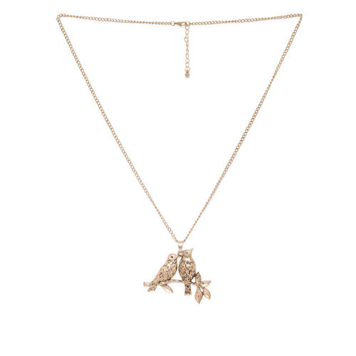 Spargz Gold-Plated Quirky Shaped Pendant with Chain
