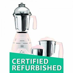(Certified REFURBISHED) Morphy Richards Icon Essentials 600-Watt Mixer Grinder (White)