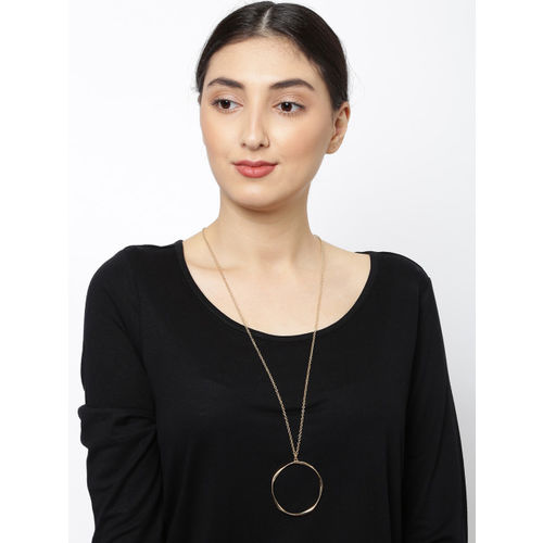 Accessorize Gold-Toned Chain With Pendant