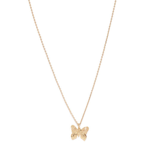 Accessorize Gold-Plated Butterfly Shaped Pendant with Chain