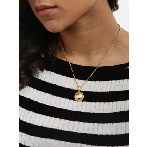 Estelle by Nitya Gold-Plated Emoji Shaped Pendant with Chain
