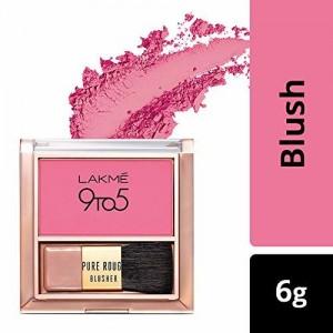 Lakmé Lakme 9 To 5 Pure Rouge Blusher, Pretty Pink, 6 g