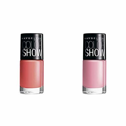 Maybelline Color Show Nail Enamel, Coral Craze, 6ml+Maybelline New York Color Show Nail Enamel, Pinklicious+