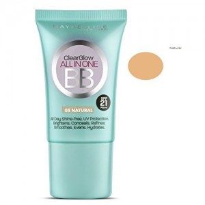 Maybelline Clear Glow All in one BB Cream 18ml with Ayur Product in Combo (03 Natural)