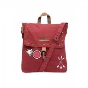 The House of Tara Unisex Maroon Printed Messenger Bag