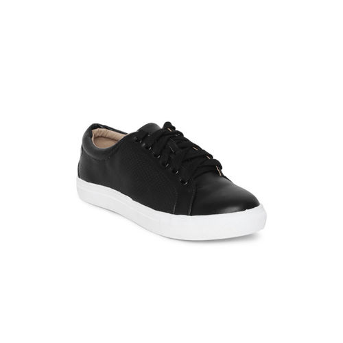 Tresmode Black Synthetic Lace Up Casual Shoes
