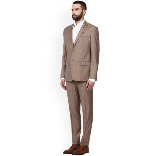 Raymond Men Khaki Solid Slim Fit Formal Suit