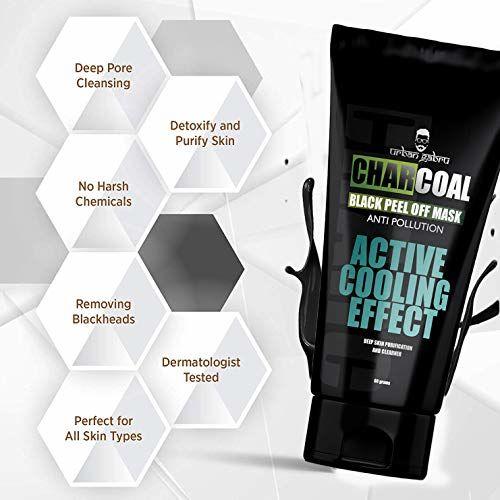 UrbanGabru CharCoal Peel Off Mask   Deep skin cleansing Mask 60gm
