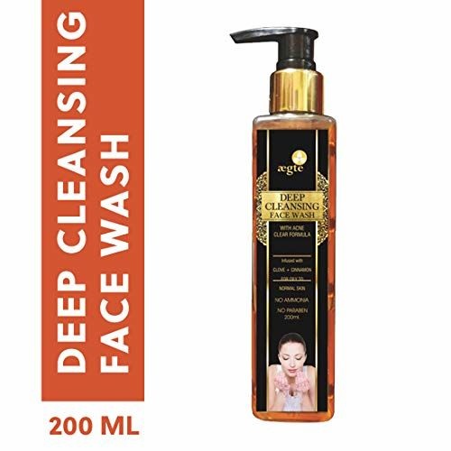 Aegte Deep Cleansing Face Wash with Acne Clear Formula for Oily to Normal Skin- 200ml/6.7fl.oz
