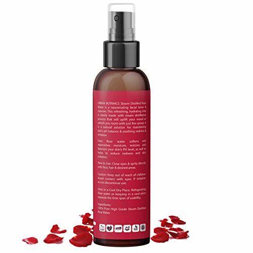 UrbanBotanics 100% Pure & Natural Rose Water/Skin Toner | 200ml | Steam Distilled | Gulab Jal | Organic | Chemical Free