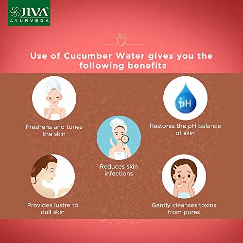 Jiva Ayurveda Cucumber Natural Water for Prevents infections | Skin toner | Pack of 3