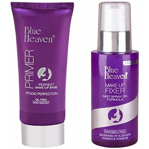 Blue Heaven Combo of Make-Up Fixer & Primer (Oil-Free & Non Greasy)