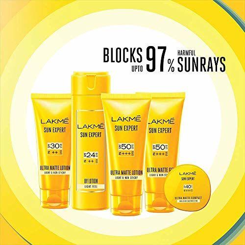 Lakmé Lakme Sun Expert SPF 50 PA+++ Ultra Matte Lotion, 100 ml
