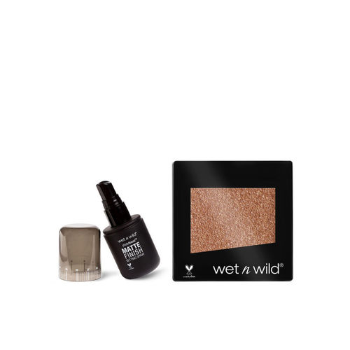Wet n Wild Set of Skin Colorcomer Single Eyeshadow & Photofocus Matte Finish Setting Spray