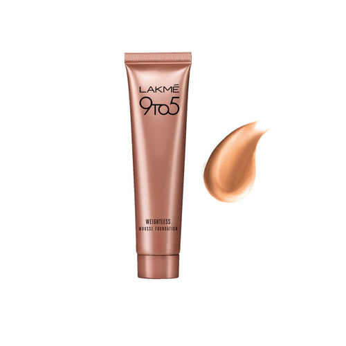 Lakme Set of Deep Black Kajal & Rose Ivory Weightless Mousse Foundation