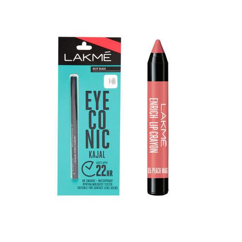 Lakme Set of Lip Crayon & Kajal