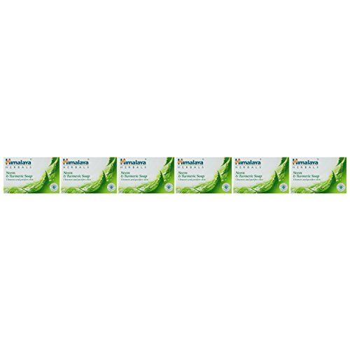 Himalaya Herbals Neem And Turmeric Soap, 125g (Pack Of 6)