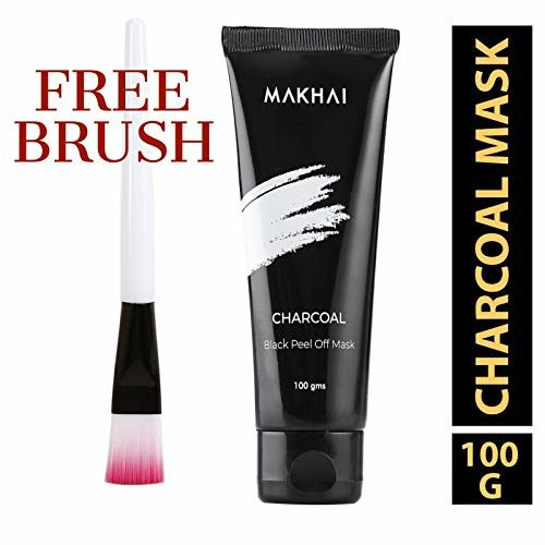 Makhai Blackhead Remover Mask, Bamboo Activated Charcoal Peel Off Mask for Bright Skin, Deep Cleansing Black Face Mask 100 gm