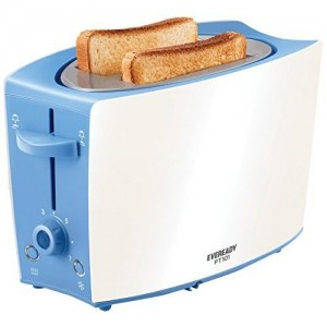 Eveready PT101 750-Watt 2 Slice Pop up Toster with Defrost,Reheat Function