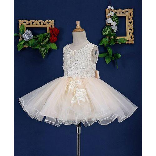 Mark & Mia Heavy Pearl Work Sleeveless Tutu Dress - Cream