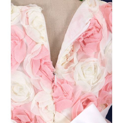 Mark & Mia Roses Applique Sleeveless Gown - Pink