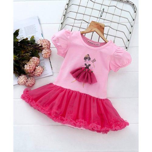 00b0413d4ef65 Buy Mark & Mia Doll Print Cap Sleeves Onesie Dress - Pink online ...