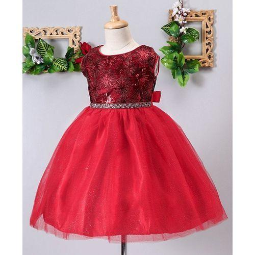 Mark & Mia Sequined Sleeveless Dress - Red