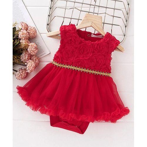 729582fdde4e4 Buy Mark & Mia Flower Design Sleeveless Onesie Dress - Red online ...