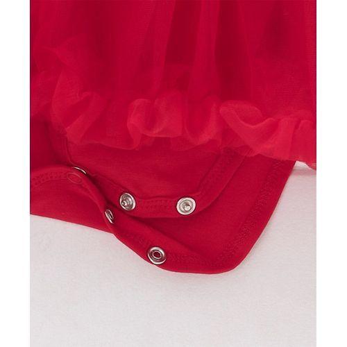Mark & Mia Flower Design Sleeveless Onesie Dress - Red
