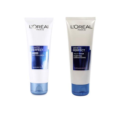 LOreal Paris Set of White Perfect Face Wash & Scrub