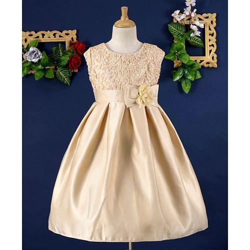 Mark & Mia Floral Sequin Work Sleeveless Dress - Beige