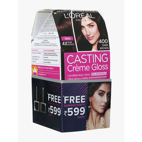 LOreal Dark Brown Casting Creme Gloss Conditioning Hair Color 400