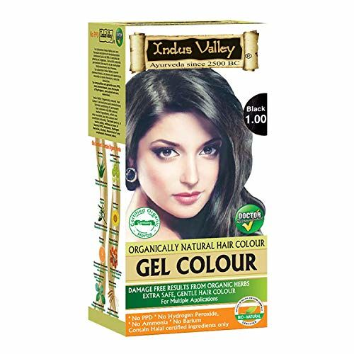 Indus Valley Natural Black Hair Colour- 1.0
