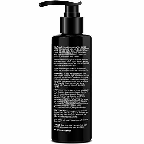 Man Arden Activated Charcoal Shampoo With Argan Oil (No Sulphate, Paraben or Silicon), 200ml - Daily Clarifying and Cleansing Hair Shampoo for Men