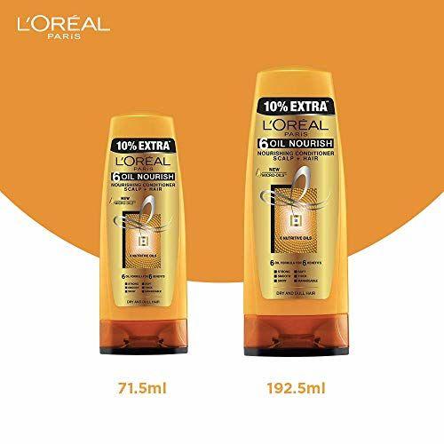 L'Oreal Paris 6 Oil Nourish Conditioner, 175ml (With 10% Extra)