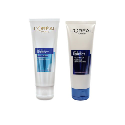 LOreal Paris Set of 2 White Perfect Milky Foam Face Wash