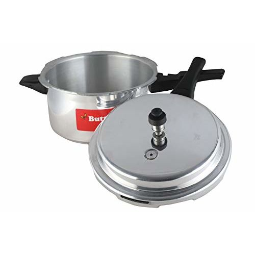 Butterfly Cordial Aluminium Pressure Cooker, 5 litres, Silver