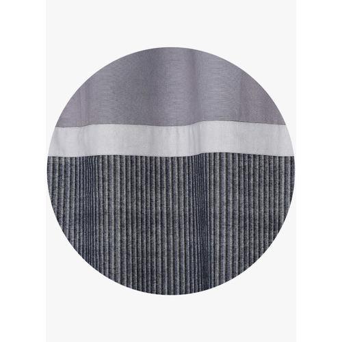 Dekor World Set of 2 Black/Grey Cotton Curtains