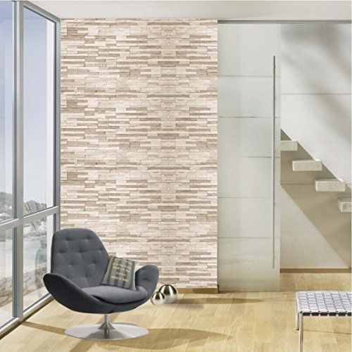 100yellow 3D Texture Pattern Self Adhesive Waterproof Wallpaper - 10.66 X 12 Feet