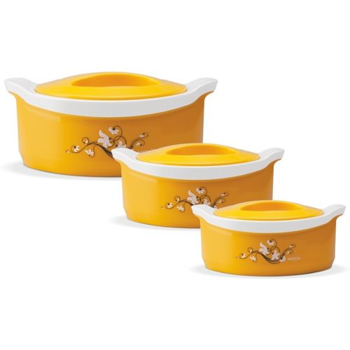 Milton Marvel Pack of 3 Thermoware Casserole Set(1000 ml, 1500 ml, 500 ml)