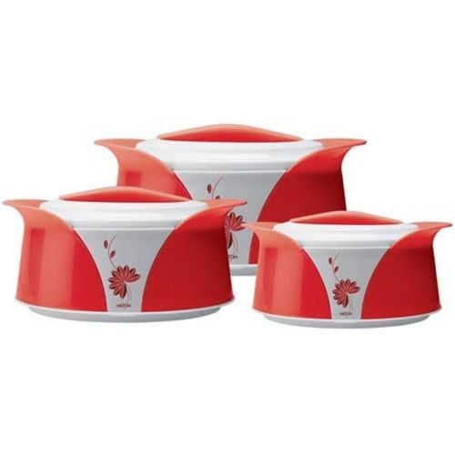 Milton Imperial Pack of 3 Thermoware Casserole Set(500 ml, 1000 ml, 1500 ml)