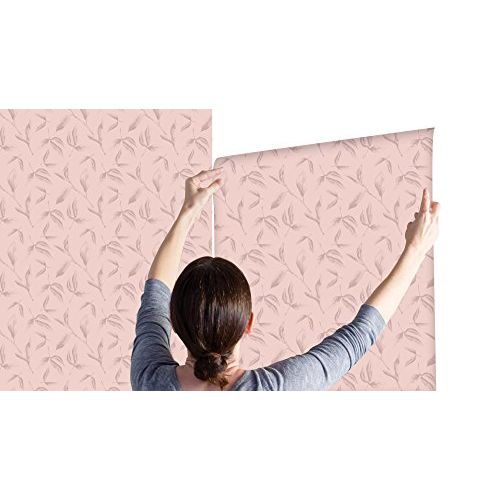 100yellow Leaf Self Adhesive Peel & Stick Wallpaper for Bedroom 44 Sqft