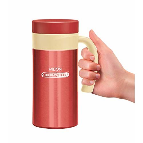 Milton Flagon Stainless Steel Flask, 380ml, Red