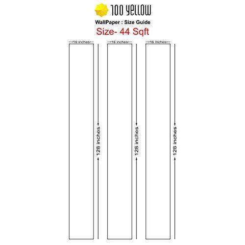100yellow Karnatak Theme Self Adhesive Peel & Stick Wallpaper for Home Wall- 44 Sqft