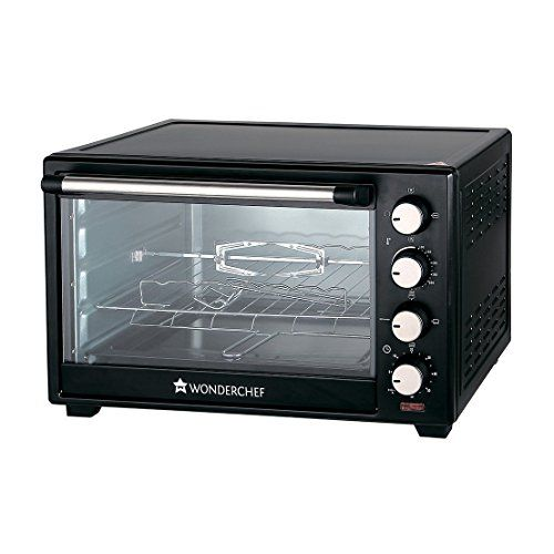 Wonderchef 40-Litre Oven Toaster Grill with Convection and Rotisserie (Black)