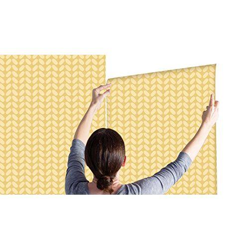 100yellow Yellow Pattern Self Adhesive Peel & Stick Waterproof Wallpaper- 44 SqFt