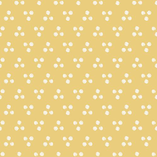 100yellow Wallpaper Yellow Color Dot Print Self Adhesive Peel & Stick Waterproof Wallpapers for Bathroom Decor- 26.7 Sqft