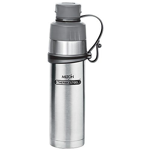 Milton Gist-800 Thermosteel Water Bottle, 800 ml, Silver