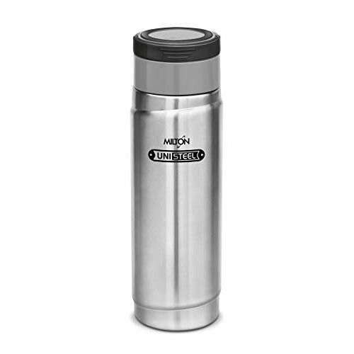 Milton Vegas Stainless Steel Bottle, 1.16-Litre, Steel and Grey